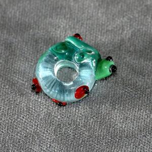 (5mm hole) Turtle with ladybugs