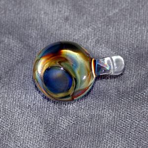 Blue and Raku Abstract ( 1-2 inches)