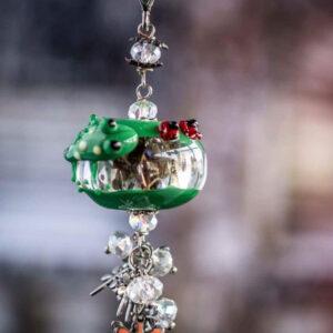 Frog and Ladybugs Pendant