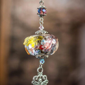 Multicolored glass pendant