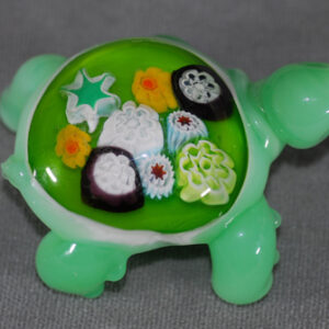 Turtle sculpture with Millefiori back (no hole)